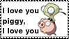 i love you piggy stamp by Neji-x-Hyuuga