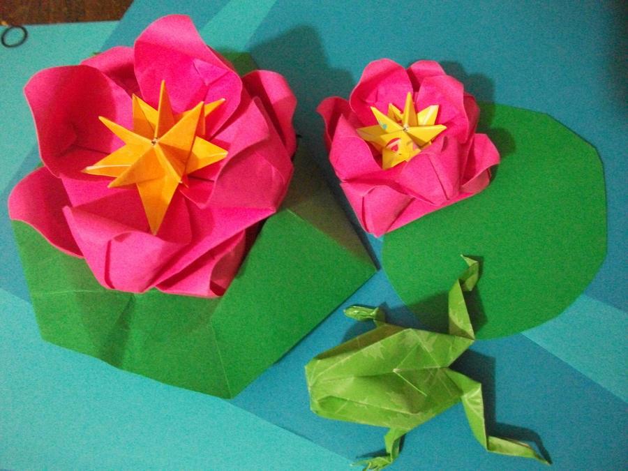 origami water lilies by AereKidd on DeviantArt - photo#15