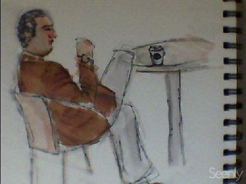 Quick sketches @ Starbucks NYC