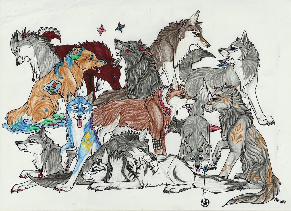 So many amazing Friends by LukeWolf6