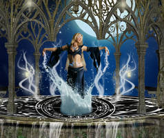 .:Water Priestess:. by LuthiensLight