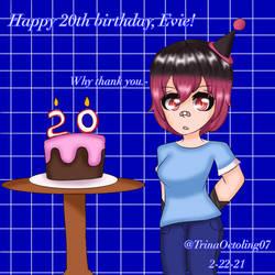 Happy 20th birthday, Evie!