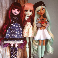 my 17 inch monsterhigh doll crew by darkPhilomena