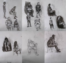 Sketches from drawing classes by MakowiecArt