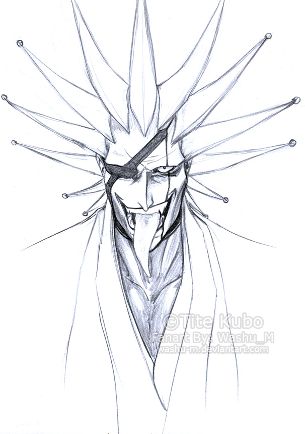 Zaraki Kenpachi Sketch By Washu M
