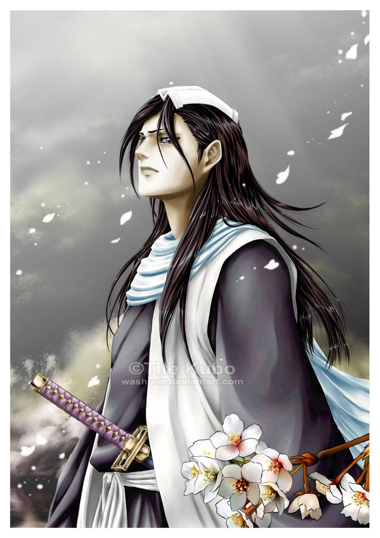 Kuchiki Byakuya - Night Walk - by Washu-M