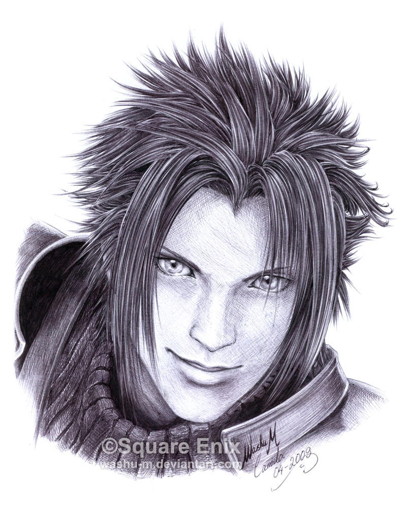FF7 - ZACK Fair - Pen 2 by Washu-M