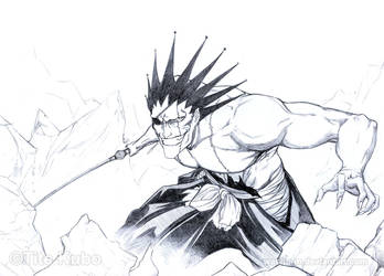 BLEACH - ZARAKI KENPACHI Wild by Washu-M