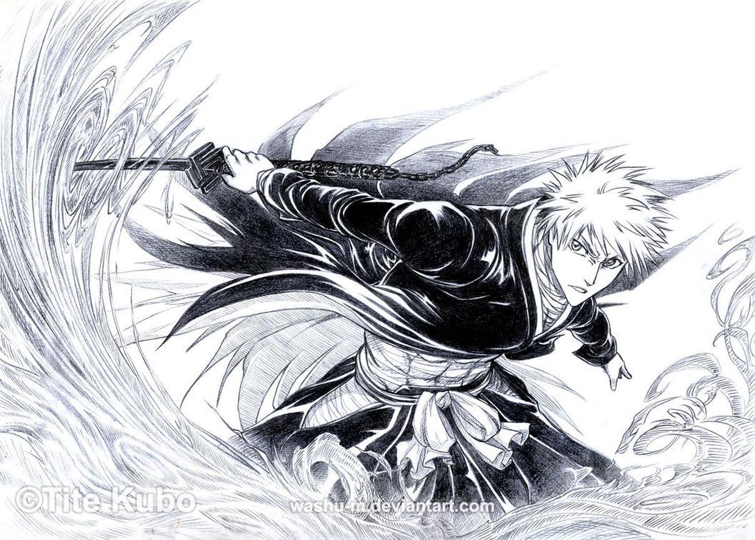 Kurosaki ICHIGO -Burn By Washu-M On DeviantArt