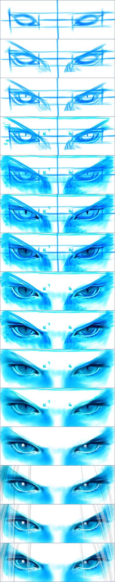Sephiroth eyes steps by Washu-M