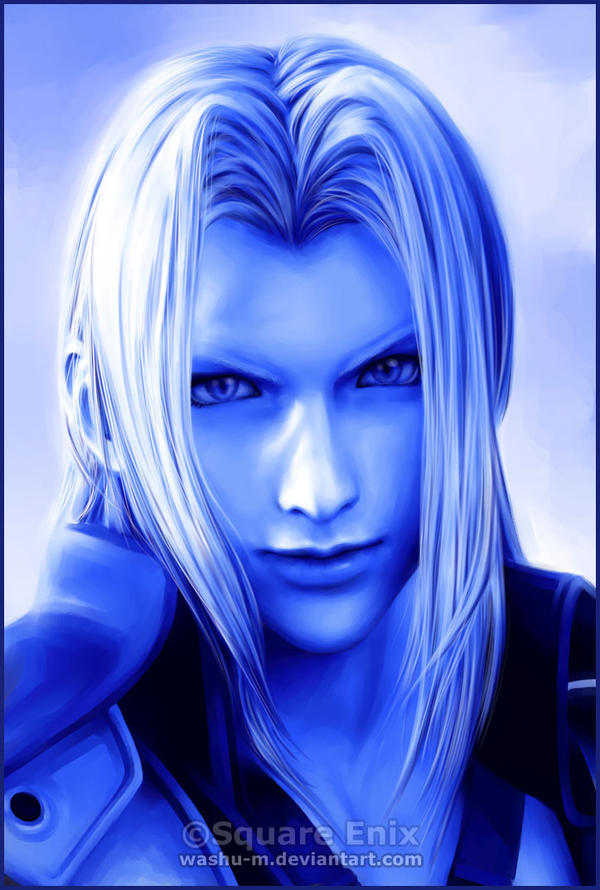 SEPHIROTH - Blue Paint Series by Washu-M