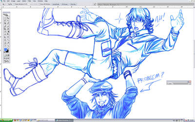 Tiger and Bunny PROBLEM WIP by Washu-M