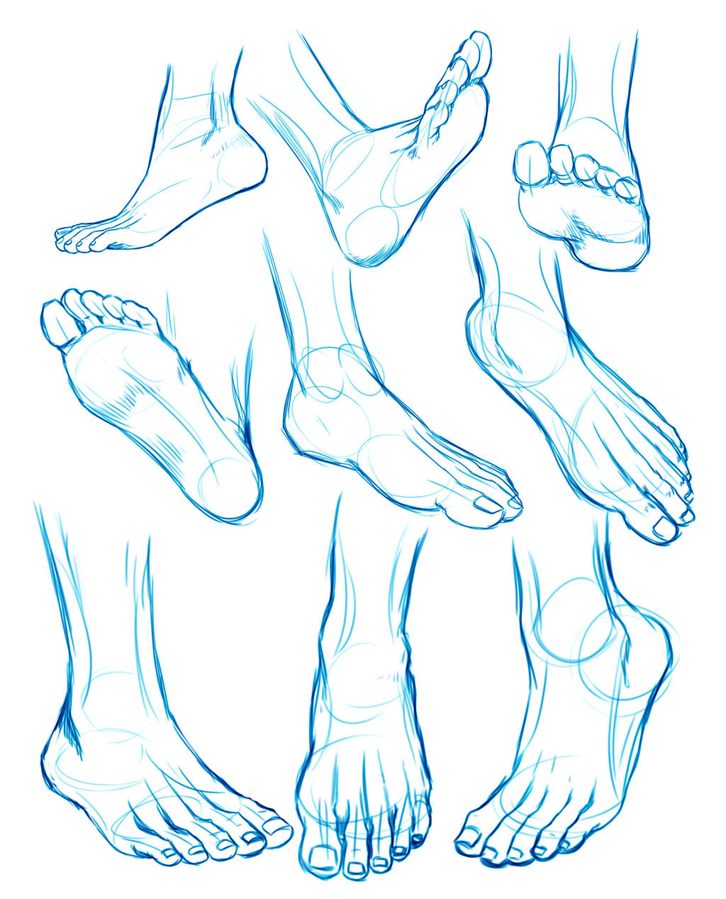 FEET sketches by Washu-M