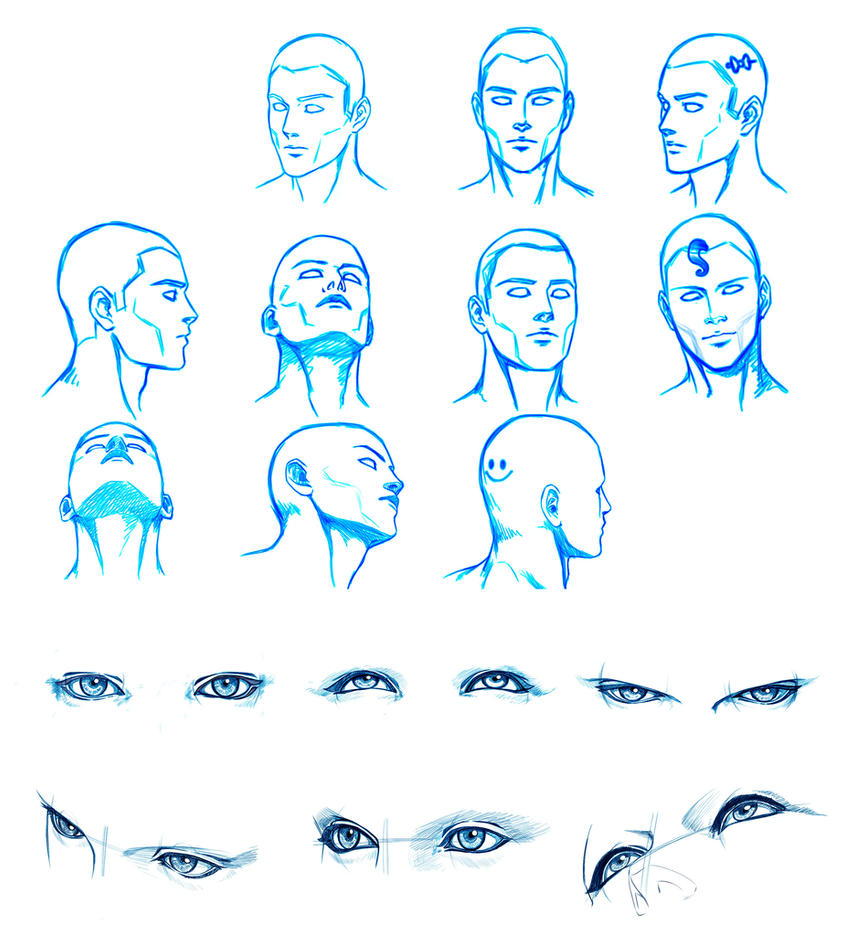HEAD And EYES Angles By Washu-M On DeviantArt