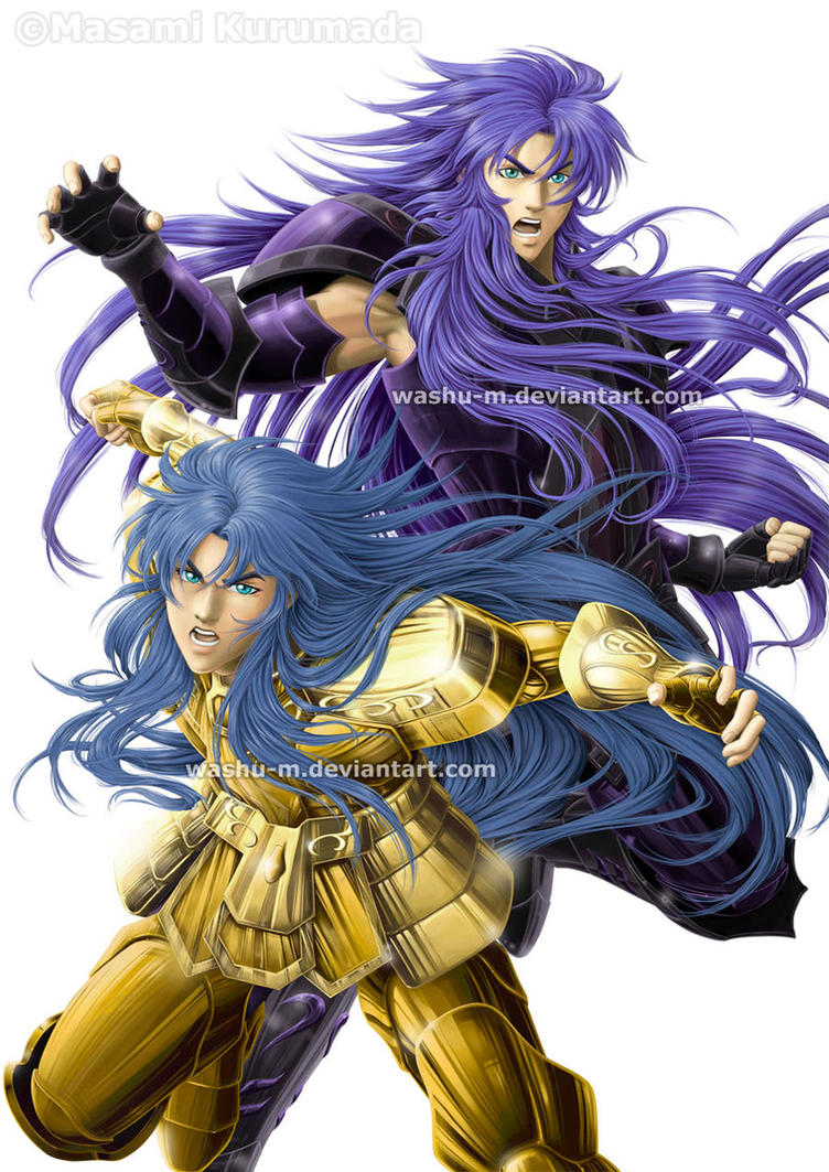 GEMINI Saga and Kanon - SAINT SEIYA by Washu-M