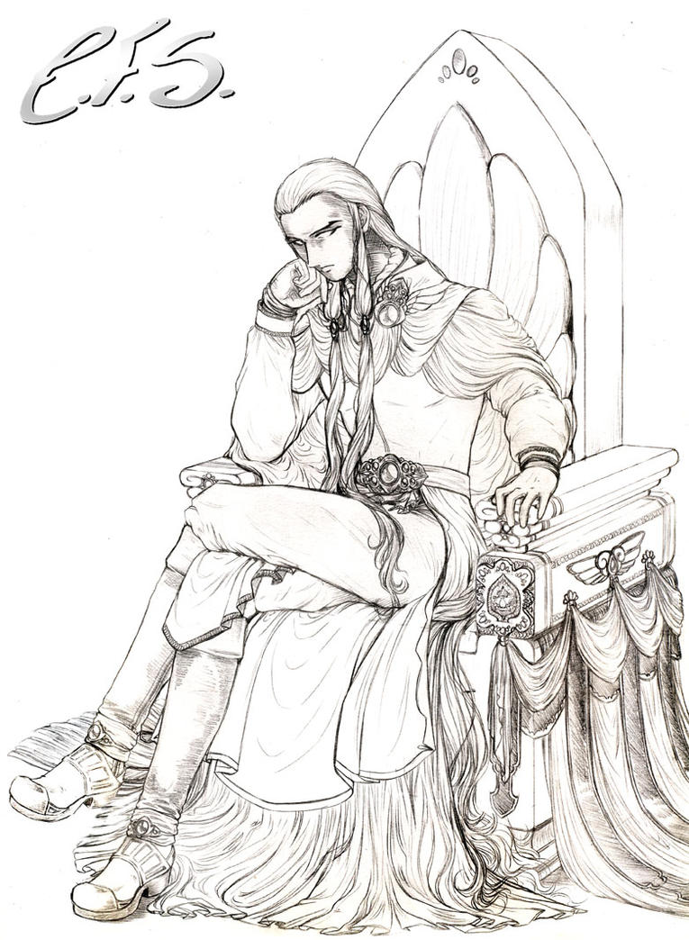 The King On The Throne By Washu M On Deviantart Drawing King