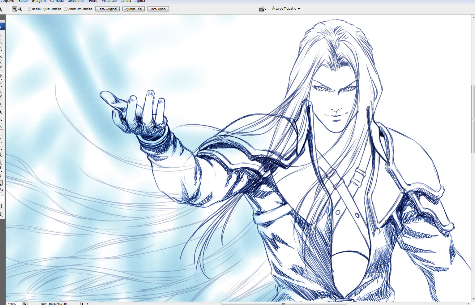 Another Sephiroth WIP by Washu-M