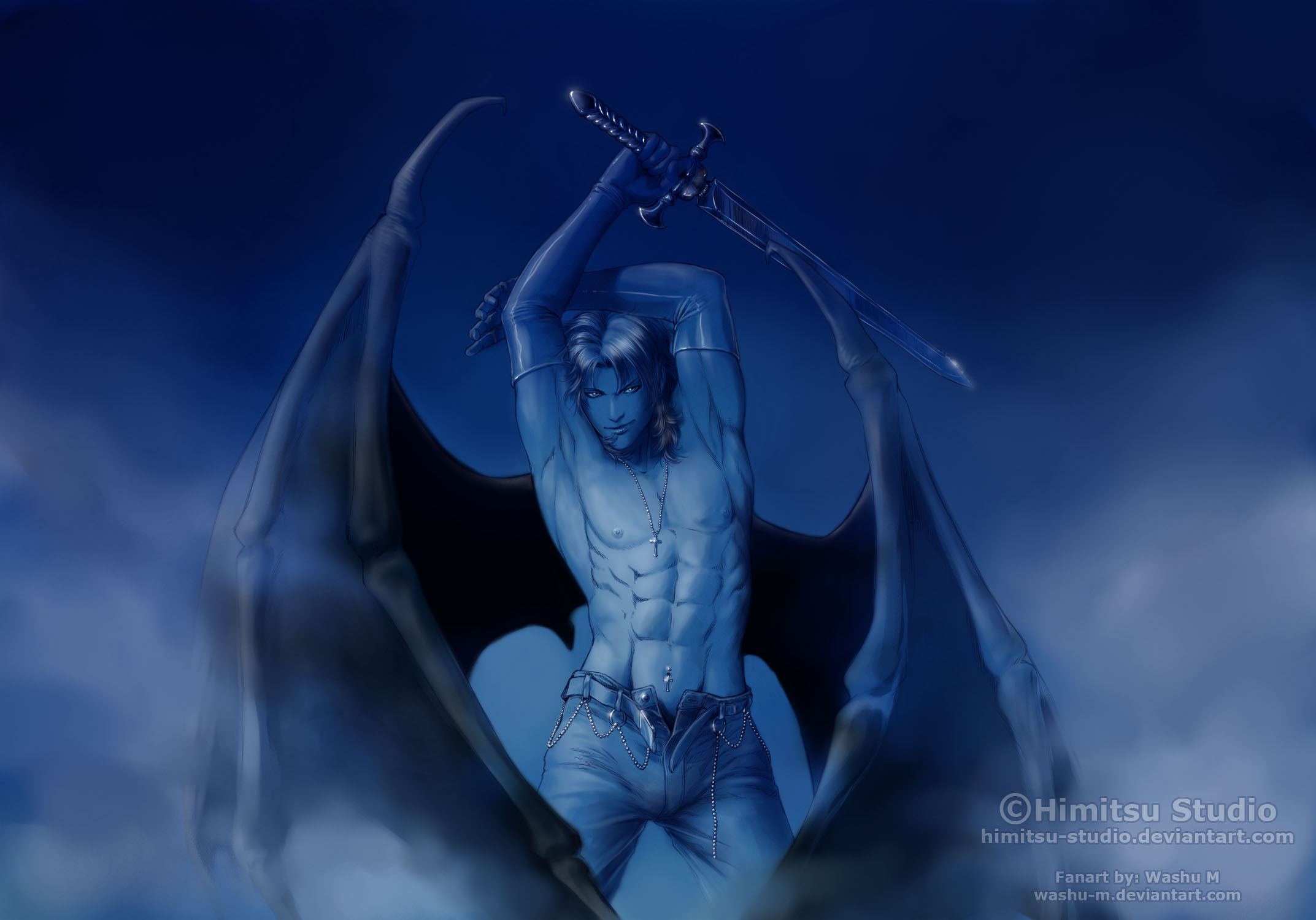 Blue THANATOS by Washu-M