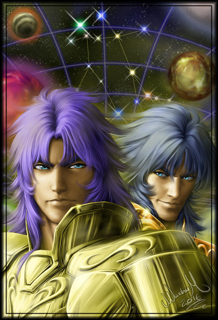 Gemini Saga and Kanon by Washu-M