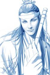 Lan Xichen Sketch by Washu-M