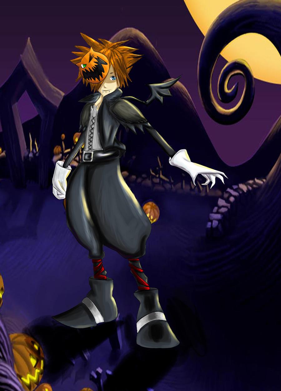 Sora -Halloween town- coloured by Blackheartprincess on DeviantArt