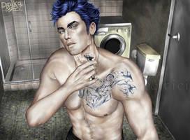 Morning Hours - Yuriy Shaving by Dradra-Trici