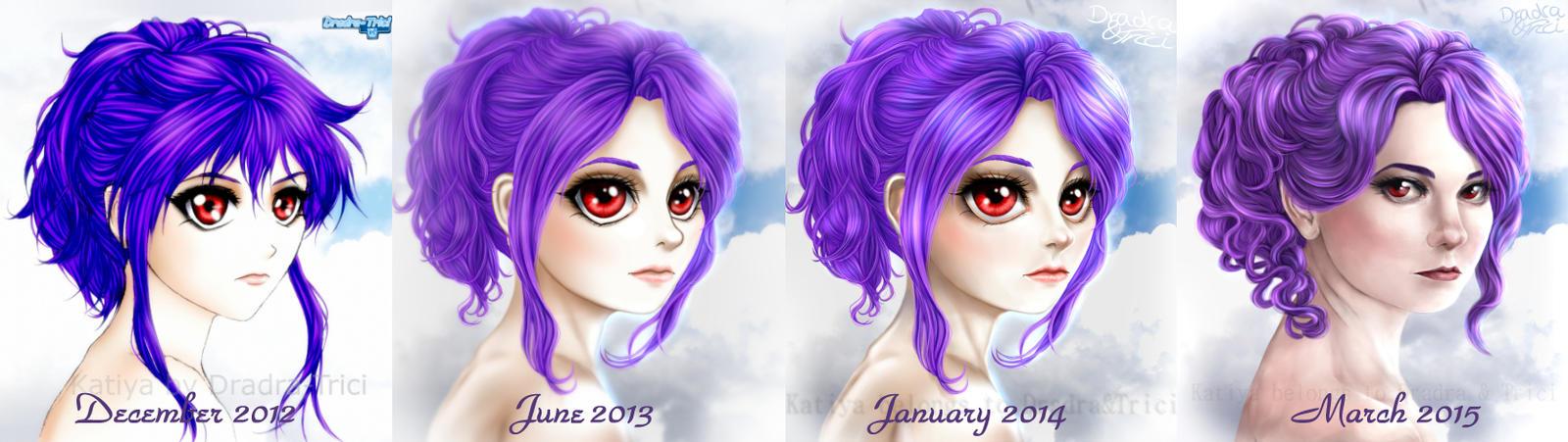 Katiya's face - Timeline by Dradra-Trici