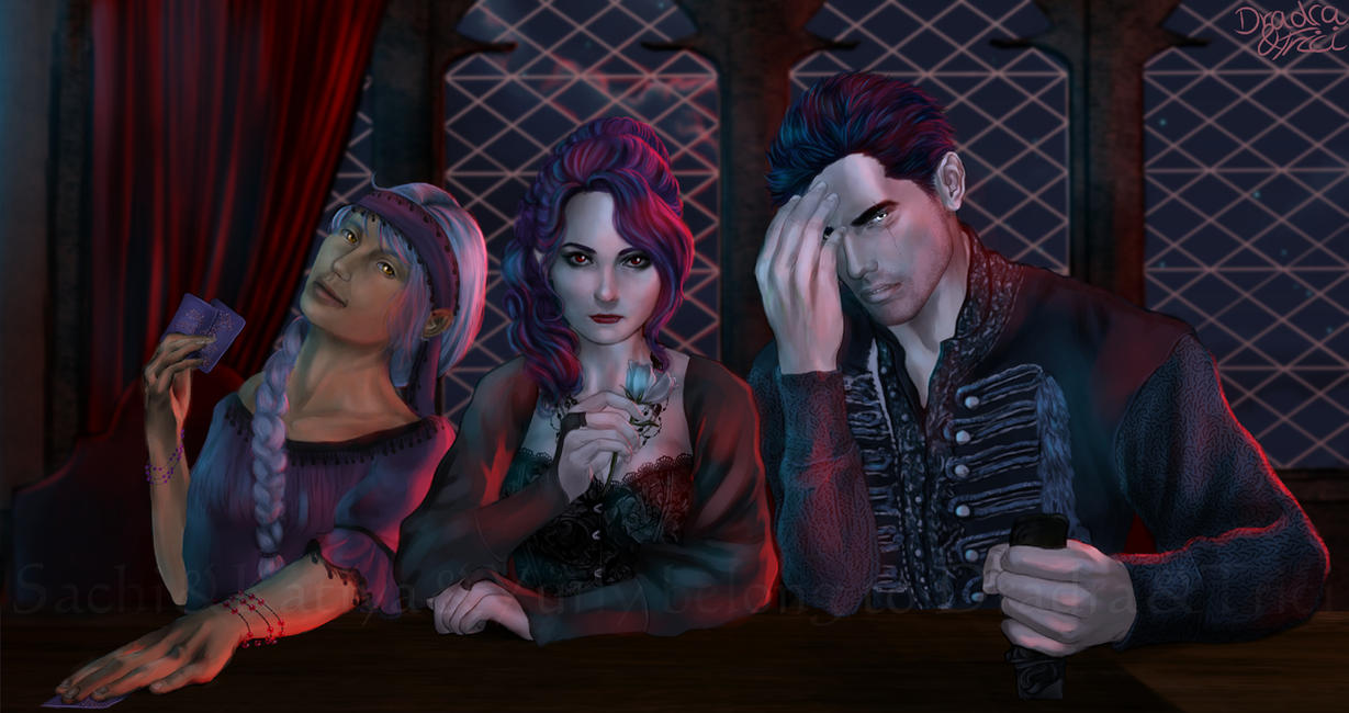 Sachi, Katiya, Yuriy - Wanna take a seat with us? by Dradra-Trici