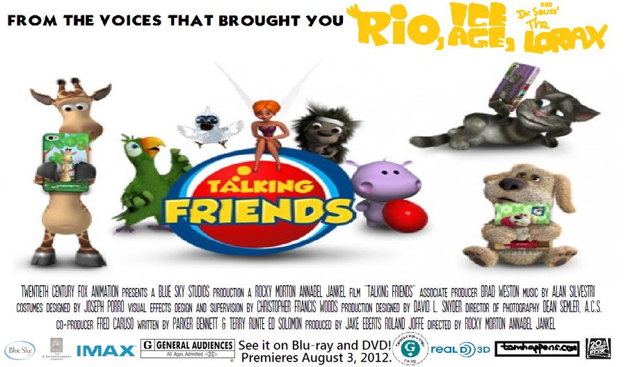 Talking Friends Movie Poster By Invaderdylan13 On Deviantart