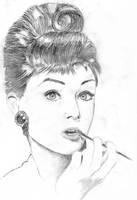 Audrey Hepburn by irisim