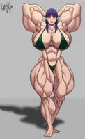 Muscle Girl - Isa by Forsa-kun
