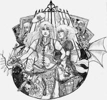 Touhou - Scarlet Devil Mansion by happibitch
