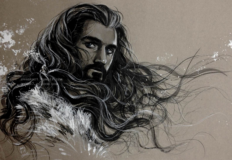 Thorin Oakenshield with wind