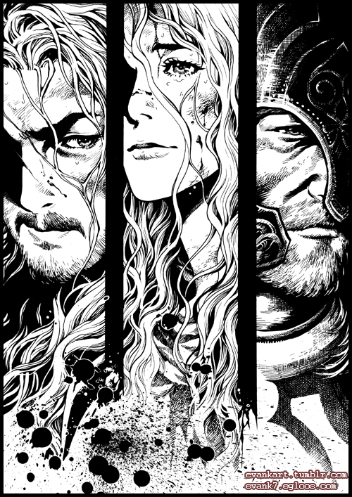 LOTR character illustration (4) by evankart