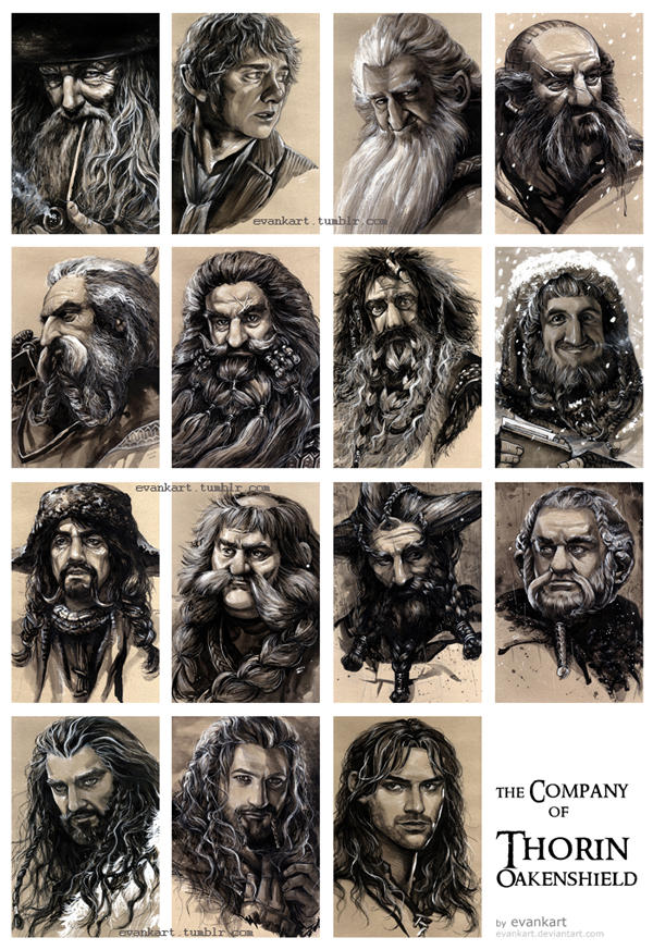 the Company of Thorin Oakenshield by evankart