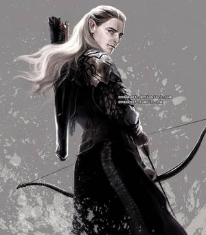 Legolas with his bow by evankart