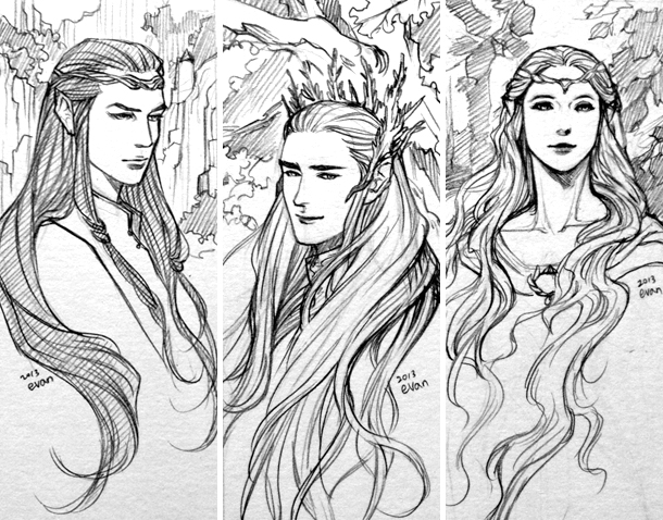 Elf lords of middle-earth by evankart