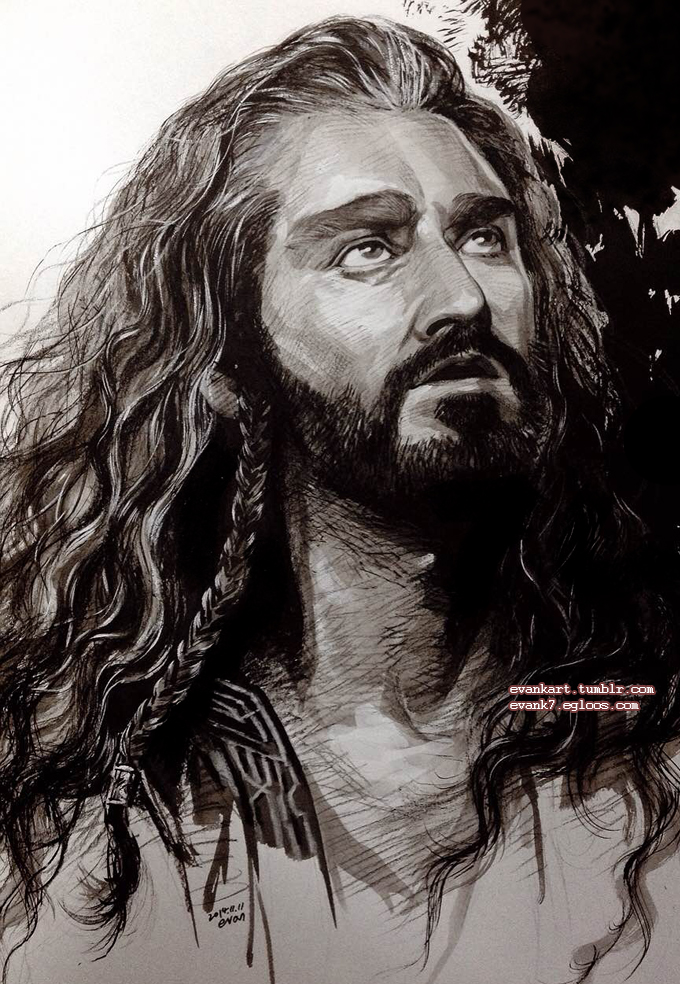 Thorin, looking up. by evankart