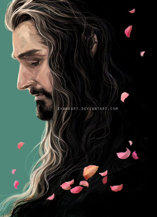 Thorin with petals by evankart