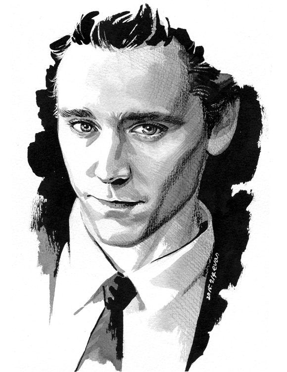 Tom Hiddleston by evankart
