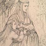 Thranduil, Legolas and a deer