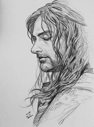 Kili, pencil sketch by evankart