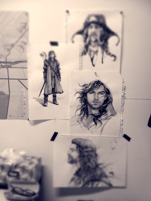 Kili, old drawing by evankart