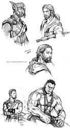 Ragnarok doodles by evankart