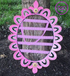 Hand Painted hair bow holder 2