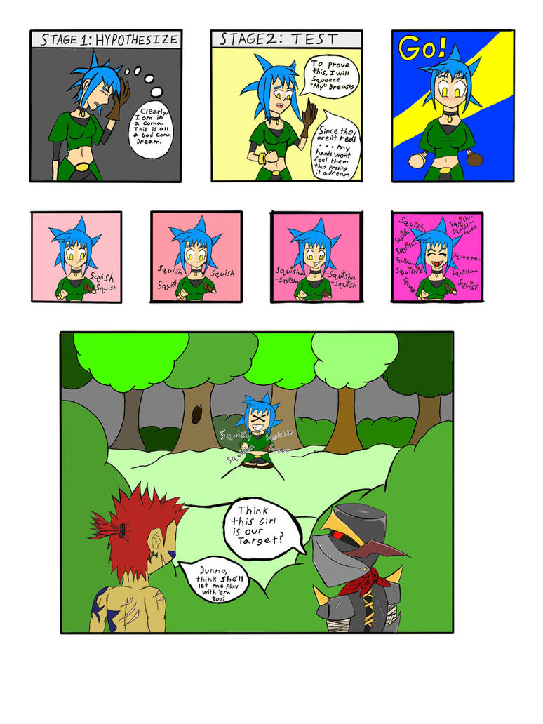 My life as a blue haired sorceress page by epic-agent-63