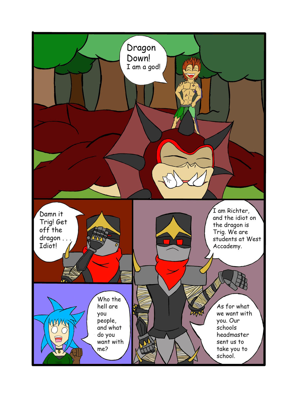 My Life as a blue haired sorceress page 16 by epic-agent-63