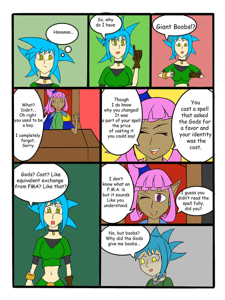My Life as a blue haired sorceress page 20 by epic-agent-63
