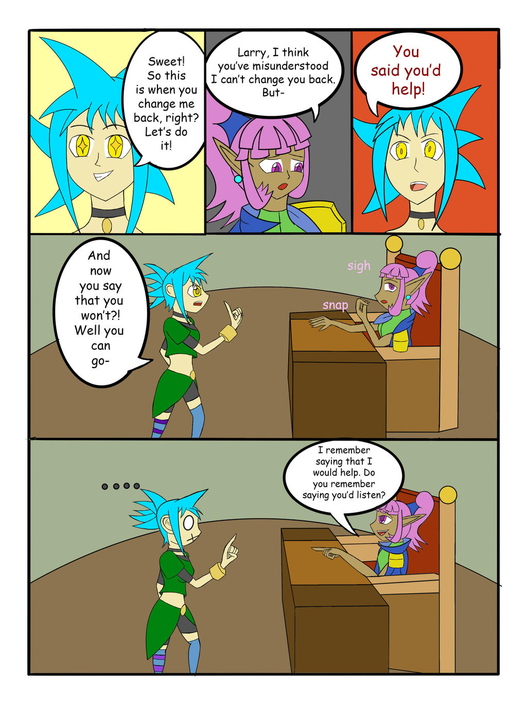 My Life as a blue haired sorceress page 22 by epic-agent-63