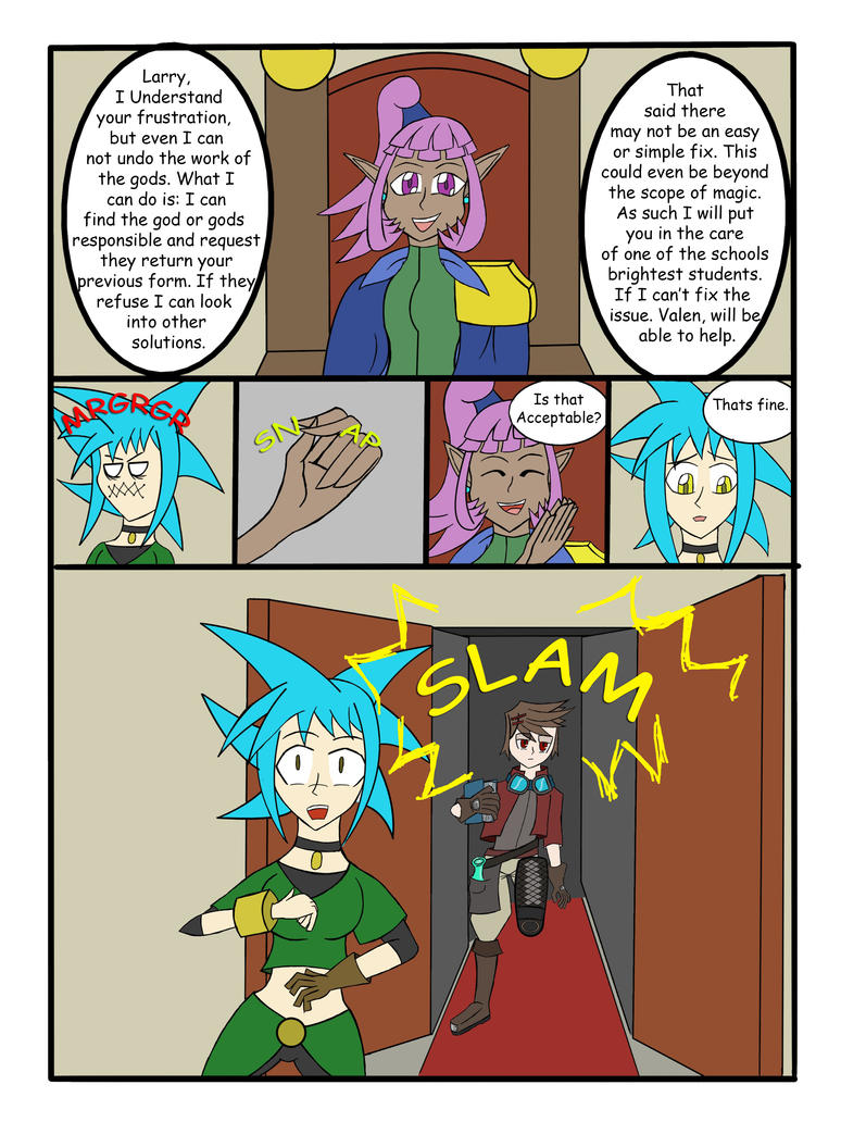 My Life as a blue haired sorceress page 23 by epic-agent-63